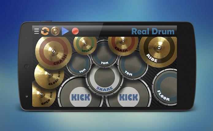 O Real Drum é um aplicativo que simula o som de uma bateria é está disponível para iOS e Android (Foto: Reprodução/Marvin Costa) (Foto: O Real Drum é um aplicativo que simula o som de uma bateria é está disponível para iOS e Android (Foto: Reprodução/Marvin Costa))