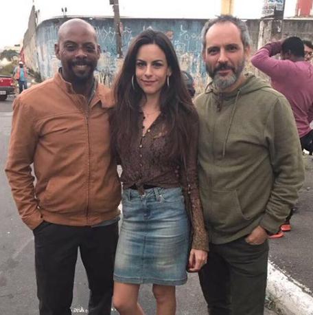 André Ramiro, Luisa Micheletti e Pablo Uranga em 'Rio heroes' (Foto: Divulgação)