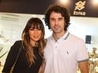 Daniele Suzuki e Eriberto Leão conferem inauguração de shopping