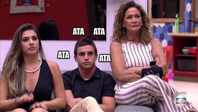 Vivian, Manoel e Ieda BBB17 (Foto: TV Globo)