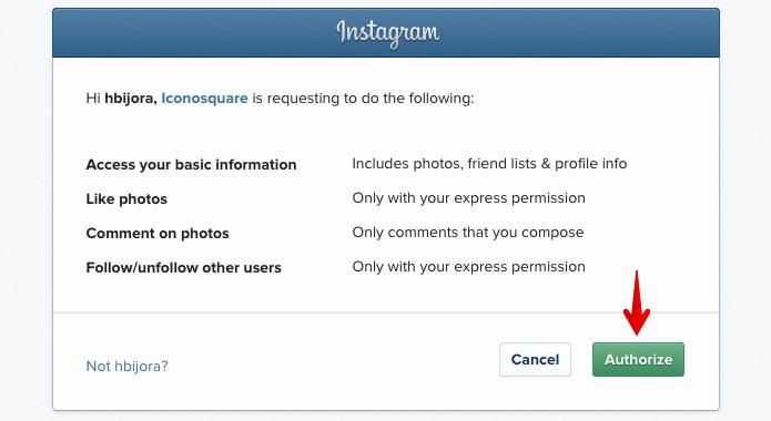 Permita que o aplicativo acesse a sua conta (Foto: Reprodução/Helito Bijora)