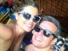 Flávia Alessandra e Otaviano Costa curtem férias no México