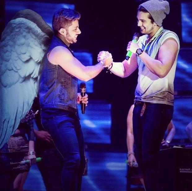 Cristiano Araujo e Luan Santana  (Foto: Instagram / Reprodução)