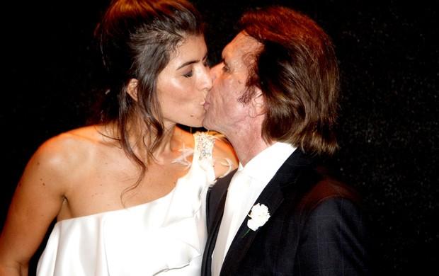 Emerson Fittipaldi casamento Rosana em São Paulo (Foto: Thiago Duran / AgNEWS)