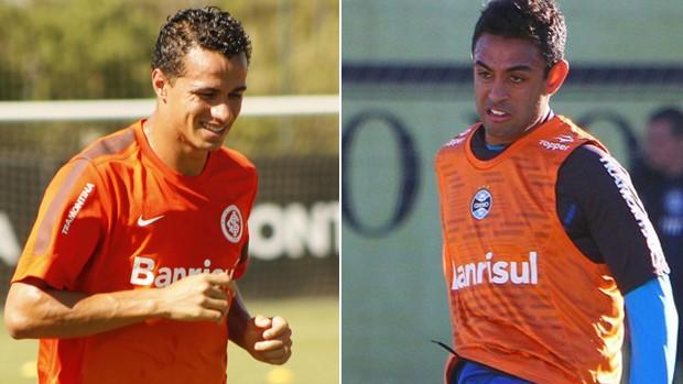 Montagem com fotos de Leandro Damião e Werley (Foto: Montagem sobre fotos de Diego Guichard/Globoesporte.com e Lucas Uebel/Grêmio FBPA)