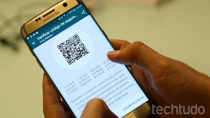 Tela de confirmação de código de segurança no WhatsApp (Foto: Luciana Maline/TechTudo)