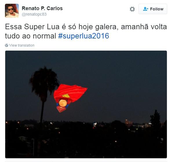 meme superlua 2 (Foto: Reprodução/Twitter)