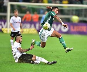 Lucas Barrios Palmeiras x Figueirense (Foto: Marcos Ribolli)