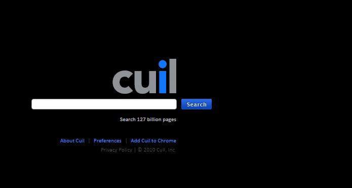 Alternativa ao Google, Cuil não conseguiu sobreviver no mercado de sites de busca (Foto: Reprodução/Cuil)