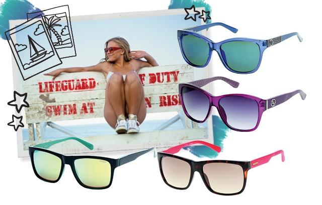 Promo Glamour Guess praia  (Foto: Getty Images e divulgação)
