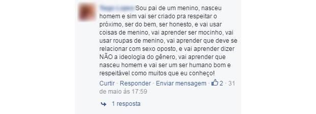 comentario machista 9 (Foto: Reprodução/ Facebook)
