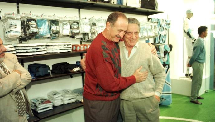 Encontro entre Felipão Scolari e Fábio Koff em 1997 (Foto: José Doval/Agência RBS)