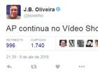 Boninho anuncia no Twitter que Ana Paula Renault seguirá no 'Vídeo Show'