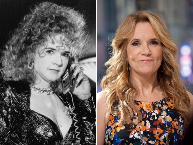 """Lea Thompson, à esquerda, em cena de 'De volta para o futuro parte II"""" e, à direita, em imagem de 19 de outubro de 2015 (Foto: Divulgação e D Dipasupil/Getty Images for Extra)"""
