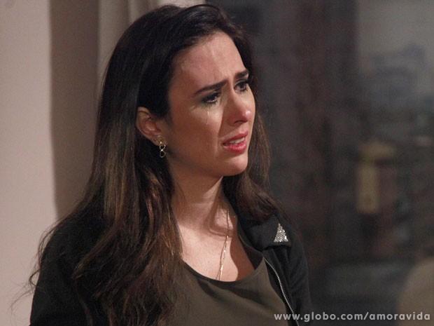 Valdirene sofre com o ultimato de Ignácio (Foto: Ellen Soares/TV Globo)
