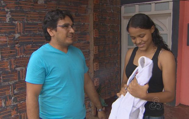 Telespectador conheceu história de Ana Cristina no Globo Esporte AP (Foto: Amapá TV)