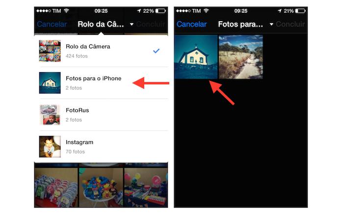 Acessando o álbum de fotos específico do iPhone pelo Facebook (Foto: Reprodução/Marvin Costa)
