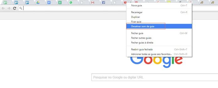 Desative o som de abas específicas no Google Chrome (Foto: Reprodução/Barbara Mannara)