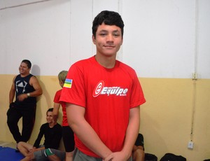 Marcos Junior, atleta da luta olímpica, delegação amapaense 2013 (Foto: Wellington Costa/GE-AP)