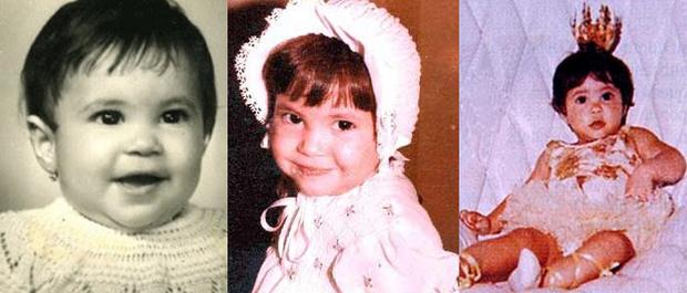 Shakira na infância (Foto: Reprodução)