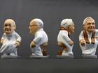 Papas, Messi, Dilma e Neymar viram 'caganers' de presépio da Catalunha
