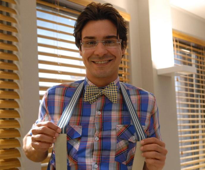 André Gonçalves também já exibiu visual nerd no especial 'Diversão e Cia' (Foto: TV Globo/Márcio Nunes)