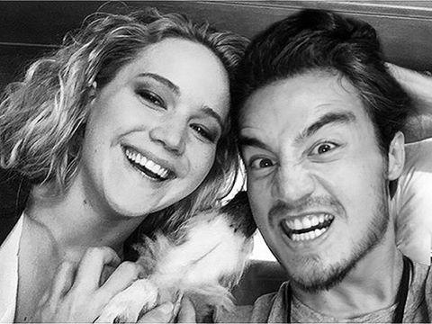 Tiago Iorc e Jennifer Lawrence juntos? (Foto: Reprodução/Instagram)