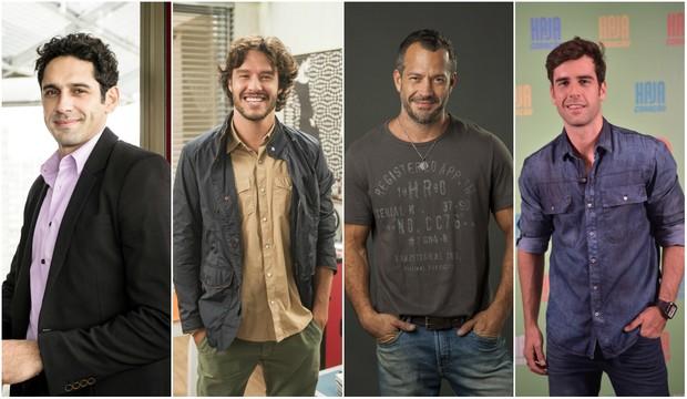 João Baldasserini, Nando Rodrigues, Malvino Salvador e Marcos Pitombo (Foto: Globo)