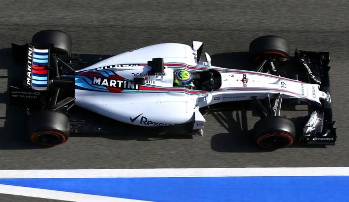 Na parte da tarde, Felipe Massa foi desbancado pela Mercedes de Lewis Hamilton e terminou em 2º (Foto: Getty Images)