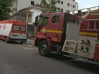 Pacientes são transferidos após fogo em obra de hospital em Juiz de Fora