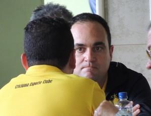 Guto Silva gerente de futebol Criciúma (Foto: João Lucas Cardoso)