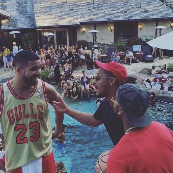 Drake deu festa para comemorar o Memorial Day, nos EUA (Foto: Reproduo/Instagram)