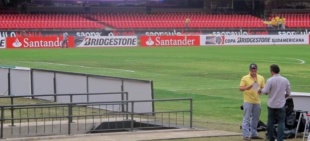 Gramado Morumbi após show Madona (Foto: Diego Rodrigues / Globoesporte.com)