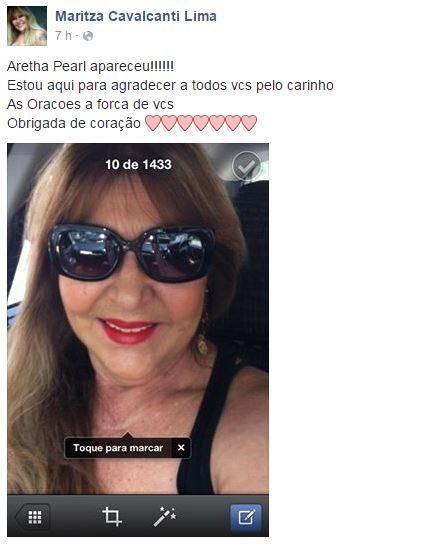Mãe de Aretha Pearl  (Foto: Reprodução/Facebook)