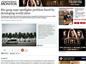 The Christian Science Monitor também repercutiu o caso (Foto: Reprodução/CSM)