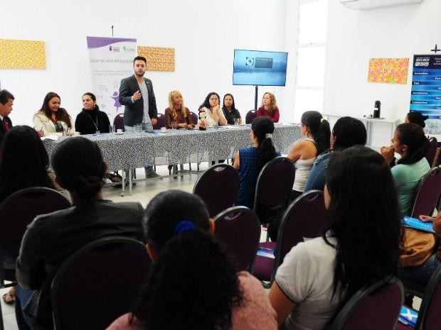 Lançamento do curso de costura para mulheres vítimas de violência doméstica na Casa da Mulher Brasileira (Foto: Pedro Ventura/Agência Brasília)