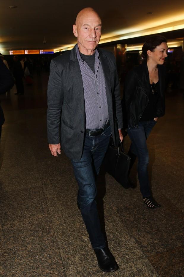 Patrick Stewart em SP (Foto: Manuela Scarpa /Foto Rio News)