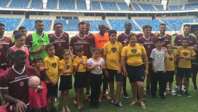 América-RN - visita da LBV (Foto: Luiz Henrique/GloboEsporte.com)