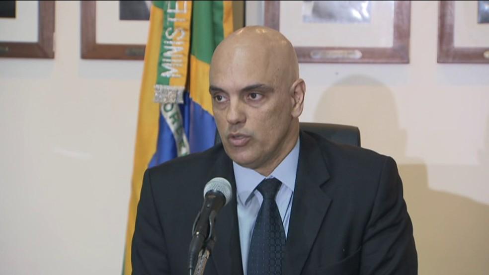 Ministro da Justiça, Alexandre de Moraes, esteve em Manaus após a rebelião com 56 mortos no Compaj (Foto: GloboNews)