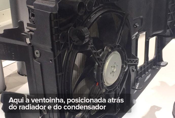 Ventoinha do ar-condicionado do carro