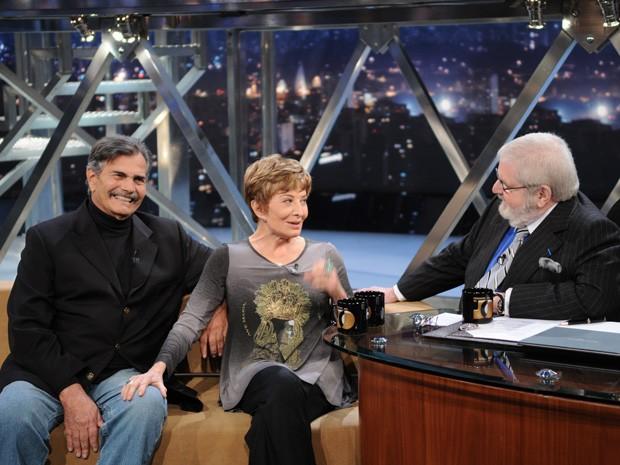 Glória Menezes e Tarcísio Meira participam do Programa do Jô (Foto: TV Globo/Programa do Jô)