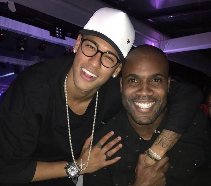 Neymar e Zulu na festa de Thiaguinho (Foto: Arquivo Pessoal)