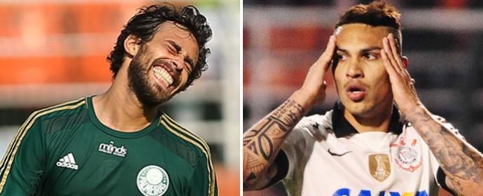 O chileno Valdivia e o peruano Guerrero estarão em campo para mais um clássico (Foto: divulgação / reprodução)