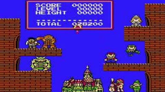 Mario festeja com seus amigos no final de Tetris para NES (Foto: Reprodução / Thomas Schulze)