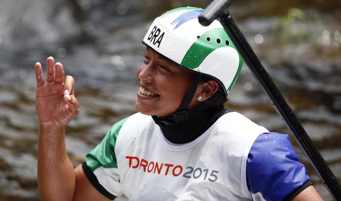 Ana Sátila conquista ouro na canoagem (Foto: Jeff Swinger-USA TODAY Sports)