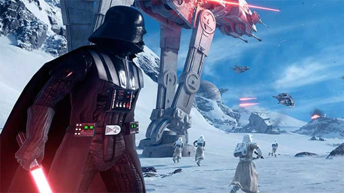 Darth Vader também está presente em Battlefront (Foto: Divulgalção/EA)