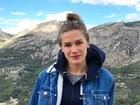 Fiorella Mattheis posa em cenário montanhoso na Espanha