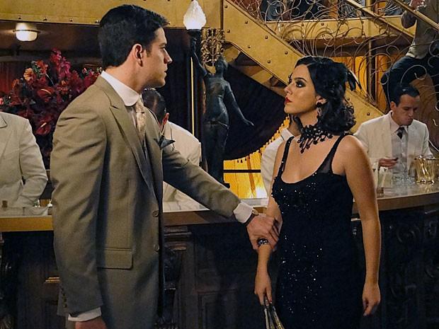 Lindinalva diz que para subir com ela Juvenal deve pagar (Foto: Gabriela/TV Globo)