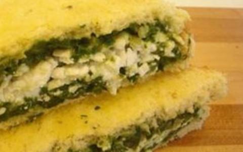 Aprenda a fazer um sanduíche de espinafre