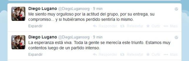 Diego Lugano elogia os companheiros do Uruguai (Foto: Reprodução/Twitter)